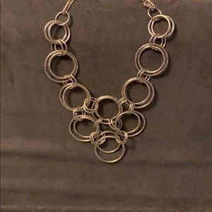 Silver necklace with circle links